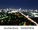 abstract bangkok city night... | Shutterstock . vector #560609836