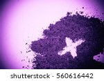 cross made in ashes  ash... | Shutterstock . vector #560616442