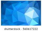 light blue polygonal... | Shutterstock .eps vector #560617222