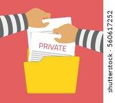 computer hacker hacking robbery ... | Shutterstock .eps vector #560617252