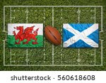 wales vs. scotland flags on... | Shutterstock . vector #560618608