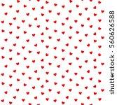 seamless heart pattern and... | Shutterstock .eps vector #560626588