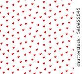 seamless heart pattern vector... | Shutterstock .eps vector #560632045