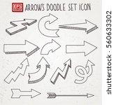 arrows set vector icon | Shutterstock .eps vector #560633302