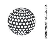 silhouette ball golf sport play ...   Shutterstock .eps vector #560639815