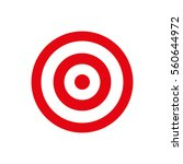 round target dartboard icon... | Shutterstock .eps vector #560644972