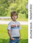 portrait of a boy with blurred...   Shutterstock . vector #560645302