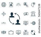set of 16 business management... | Shutterstock .eps vector #560647138