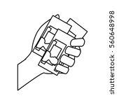 billets in hand icon vector... | Shutterstock .eps vector #560648998
