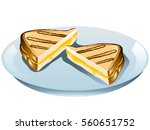 illustration of a grilled... | Shutterstock .eps vector #560651752