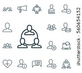 set of 16 social icons.... | Shutterstock . vector #560654152