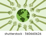save environment and green... | Shutterstock .eps vector #560660626