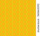 a seamless vector honeycomb... | Shutterstock .eps vector #560663392