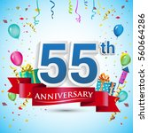 55th years anniversary... | Shutterstock .eps vector #560664286