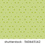 decorative floral seamless... | Shutterstock . vector #560665162