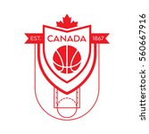 a canadian basketball crest in... | Shutterstock .eps vector #560667916