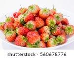 Strawberry On The White Bowl...