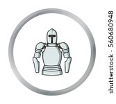 plate armor icon in cartoon... | Shutterstock .eps vector #560680948