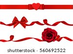 set of beautiful decorative... | Shutterstock .eps vector #560692522