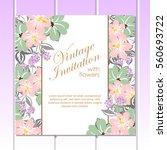 romantic invitation. wedding ... | Shutterstock .eps vector #560693722