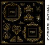 vector set of vintage elements... | Shutterstock .eps vector #560698318