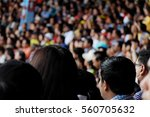 Defocused Background Of Crowd...