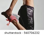 close up of sporty female... | Shutterstock . vector #560706232