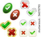 approved and rejected buttons.... | Shutterstock .eps vector #56070793