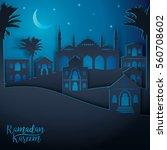 arabic landscape city view for...   Shutterstock .eps vector #560708602