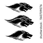 wolves signs. | Shutterstock .eps vector #560709076