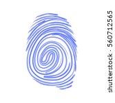 vector icon. fingerprint.... | Shutterstock .eps vector #560712565