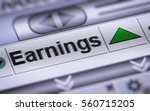 """earnings"" on the screen. up. 