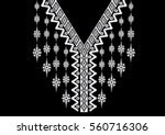 geometric ethnic pattern neck...   Shutterstock .eps vector #560716306