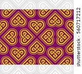 celtic heart shape vector... | Shutterstock .eps vector #560717212