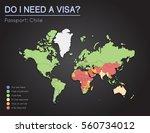 visas information for republic... | Shutterstock .eps vector #560734012