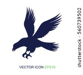 silhouette of an eagle on a... | Shutterstock .eps vector #560739502