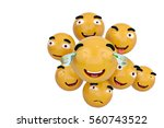 emojis icons with facial... | Shutterstock . vector #560743522