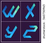 colorful polygonal font graphic ... | Shutterstock .eps vector #560750965