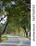 running road warming in the... | Shutterstock . vector #560760532
