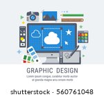 graphic design. flat vector...