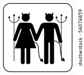 Male And Female Devil  Sign...