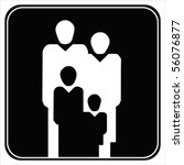 family silhouette flat icon.... | Shutterstock .eps vector #56076877