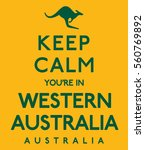 'keep calm you're in western... | Shutterstock .eps vector #560769892