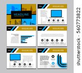 business template design set... | Shutterstock .eps vector #560773822