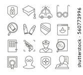 law and justice icons thin line ... | Shutterstock .eps vector #560773996