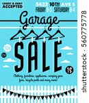 garage or yard sale with signs  ... | Shutterstock .eps vector #560775778