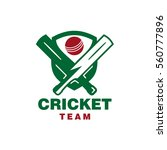 cricket team logo   Shutterstock .eps vector #560777896