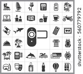 set of travel icons. contains... | Shutterstock .eps vector #560779792