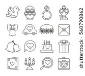 wedding icons thin line style... | Shutterstock .eps vector #560790862