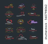 happy valentines day vector... | Shutterstock .eps vector #560798062